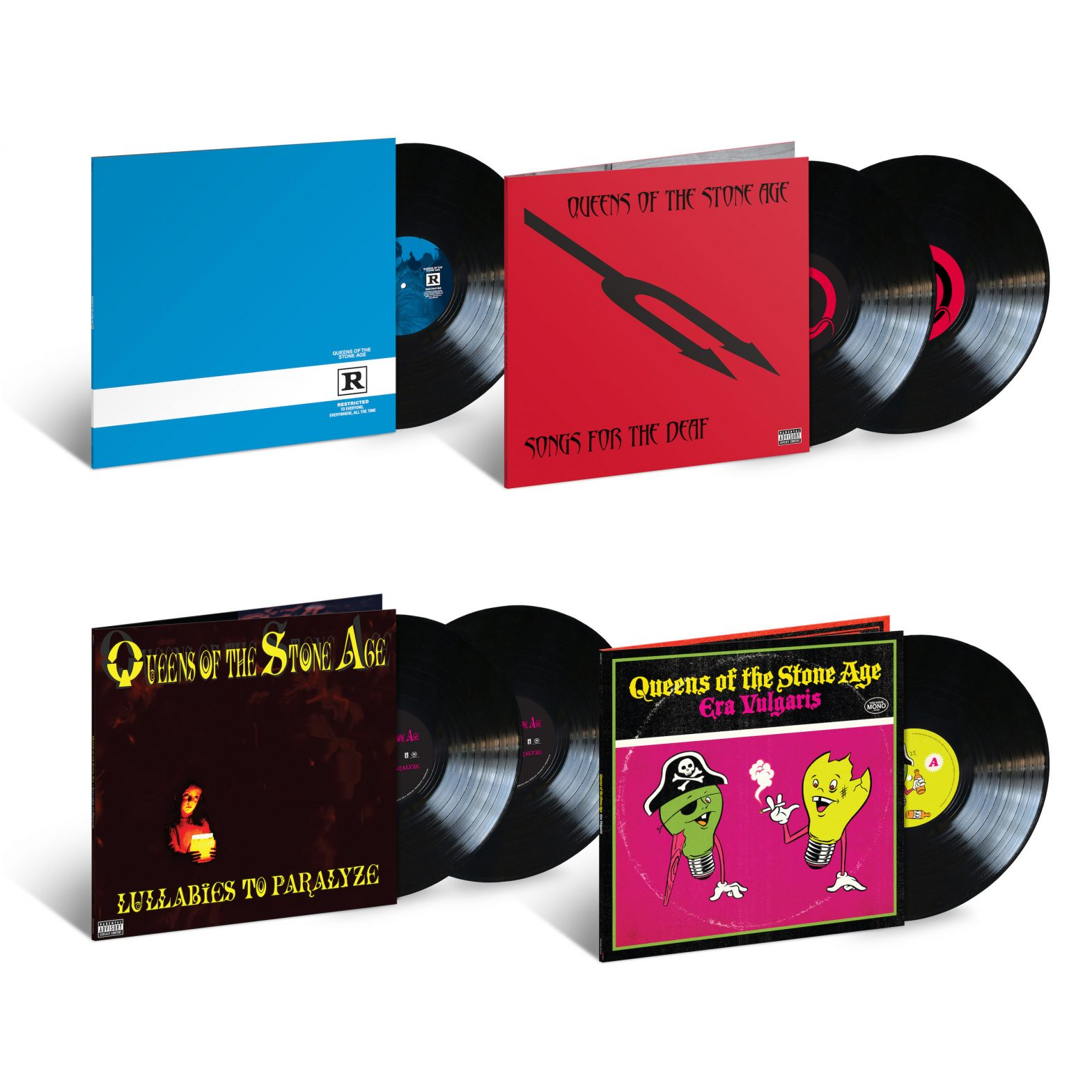 QUEENS OF THE STONE AGE FOUR INTERSCOPE STUDIO ALBUMS