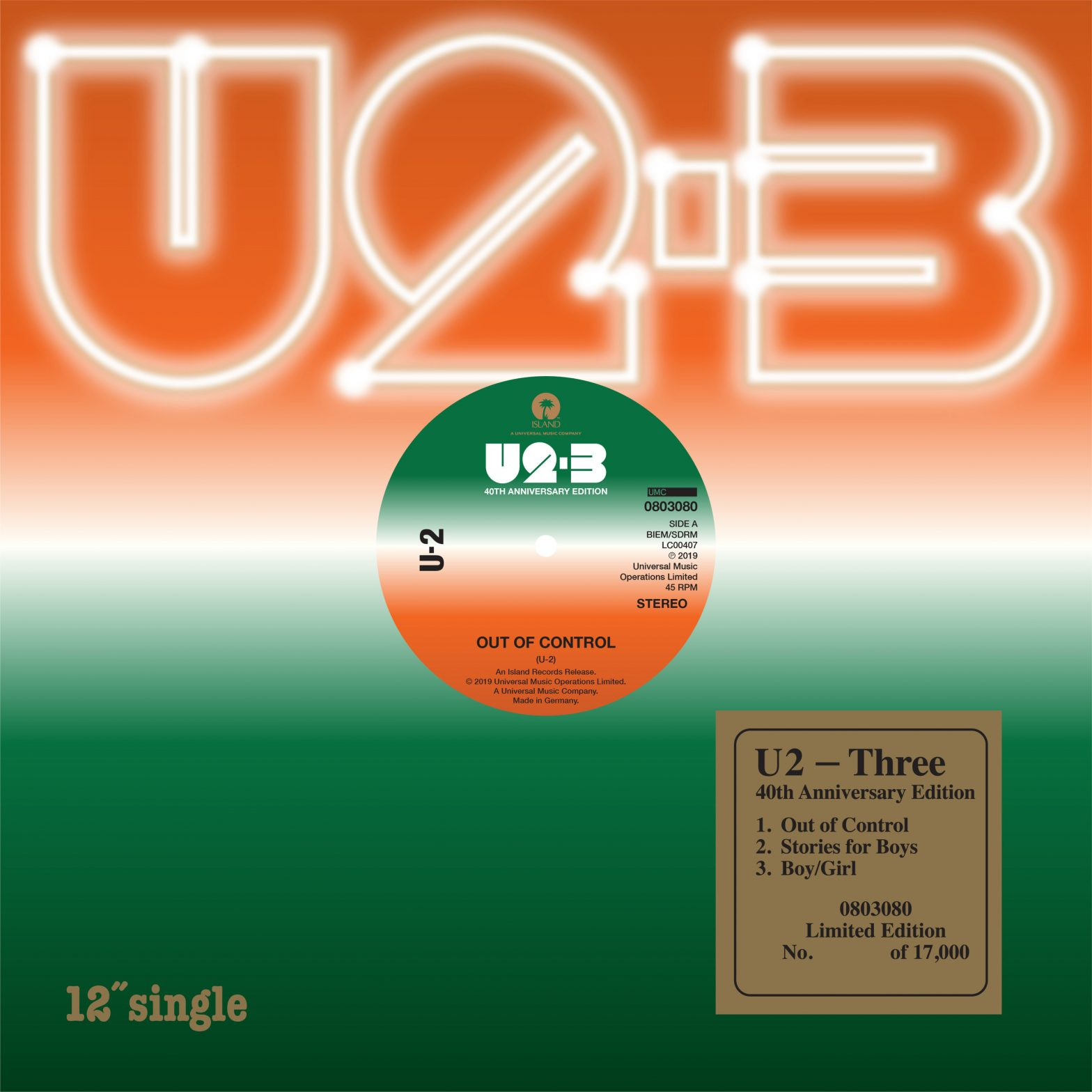 U2 THREE EP LIMITED EDITION