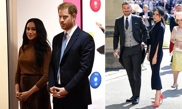 Meghan 'sparked row between Prince Harry and David Beckham' | Daily Mail Online