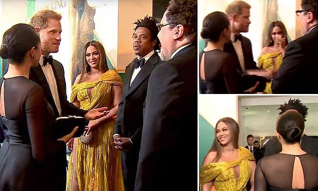 Fans point out Beyonce's reaction to Prince Harry and Meghan Markle asking for voiceover work | Daily Mail Online