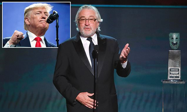 De Niro takes shot at Trump as he accepts SAG lifetime award, | Daily Mail Online