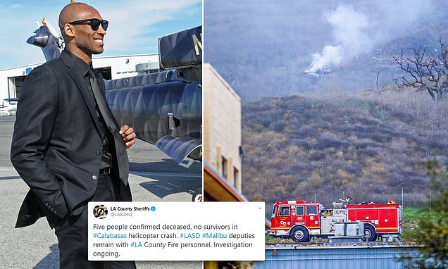 NBA star Kobe Bryant and daughter killed in helicopter crash | Daily Mail Online
