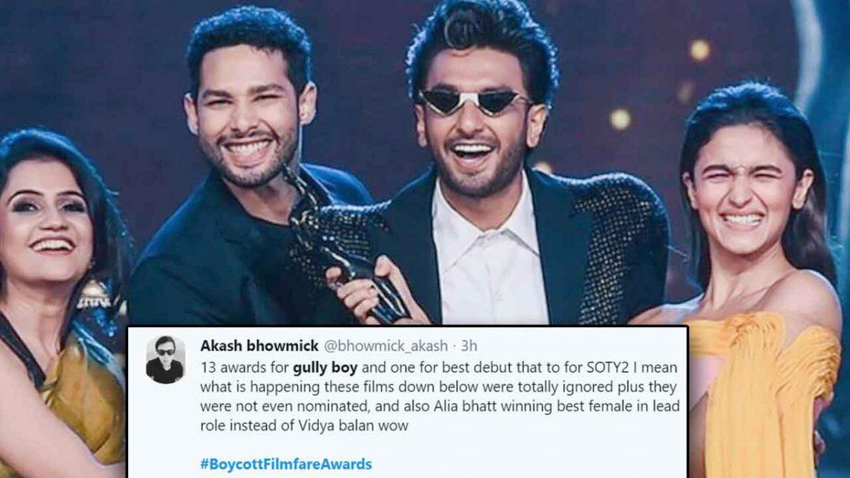 'Boycott Filmfare!' Furious at Filmfare awards, netizens have a massive meltdown on social media