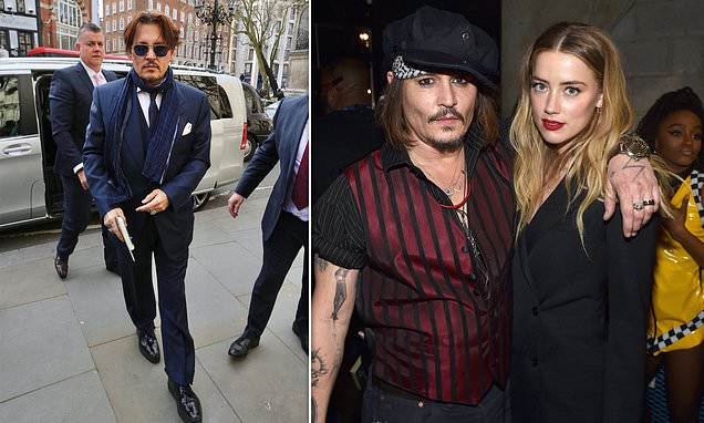 Johnny Depp appears at London's High Court to sue The Sun | Daily Mail Online