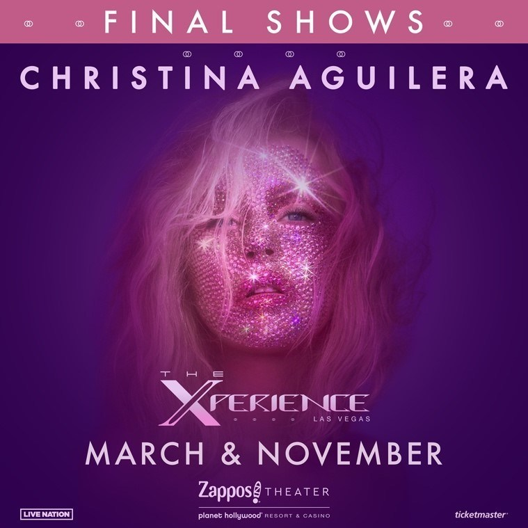 """**PRESS RELEASE**International Superstar Christina Aguilera Announces Final Show Dates For """"Christina Aguilera: The Xperience"""" At Planet Hollywood Resort & Casino"""