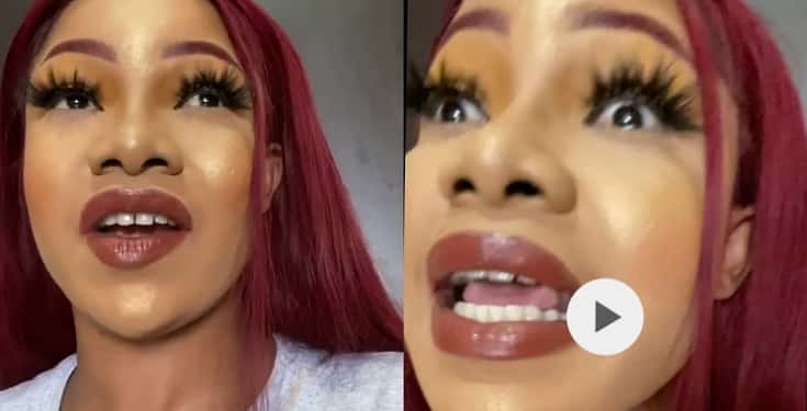 """Your makeup is terrible and horrifying"" – Nigerians blast Tacha over excessive makeup in new video"