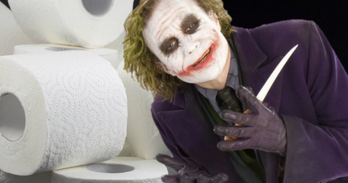 Toilet Paper Brawls Convince The Dark Knight Fans That Joker Was Right