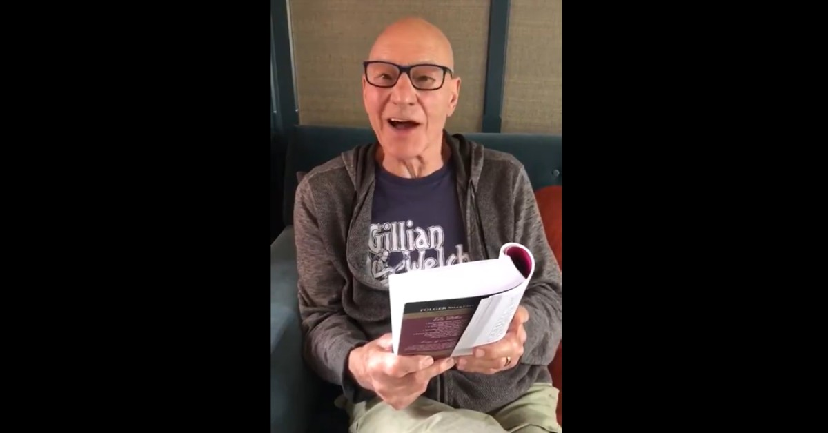 Star Trek's Sir Patrick Stewart Reads Shakespeare for Lonely Fans