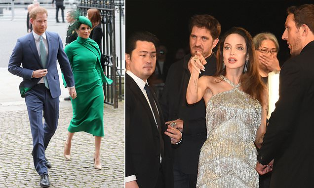 Have Prince Harry and Meghan Markle hired Brad Pitt and Angelina Jolie's former bodyguard? | Daily Mail Online