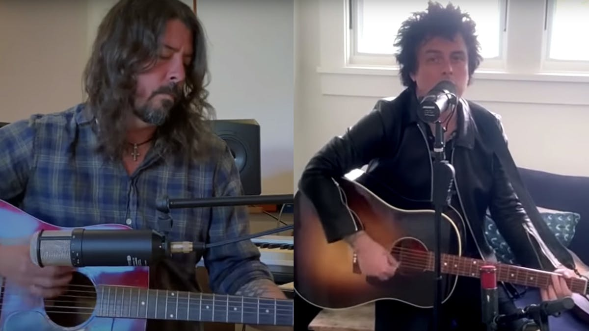 Watch Dave Grohl And Billie Joe Armstrong Perform In Their Living Rooms — Kerrang!