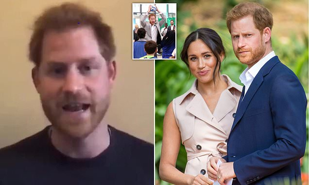 Prince Harry praises young Brits for 'surviving but also for thriving' in video message from LA home | Daily Mail Online