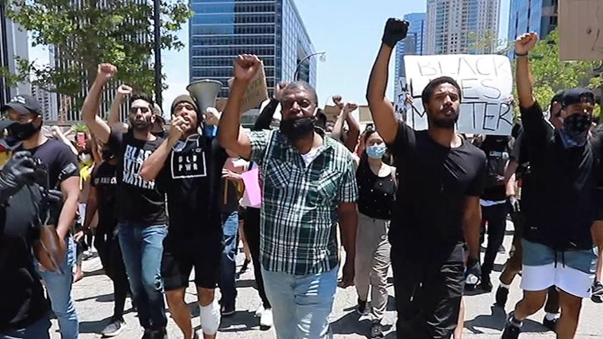 Michael B. Jordan, Kendrick Sampson Lead Protest Ripping Trump, Cops and Hollywood
