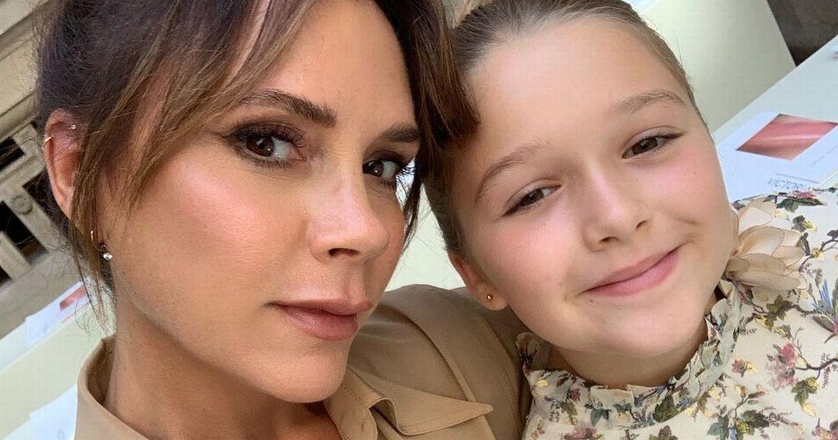 Victoria Beckham slammed for making Harper wear uniform during homeschooling – Mirror Online