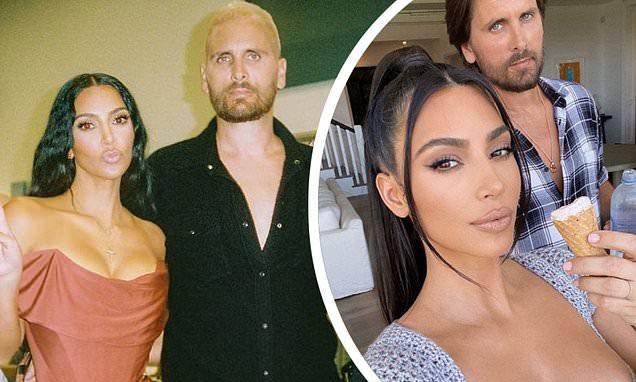 Kim Kardashian celebrates Scott Disick's 38th birthday as she shares sweet throwback snaps