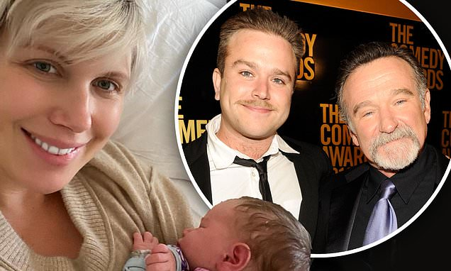 Robin Williams' son Zak and his wife Olivia June share the first photos of their baby daughter Zola